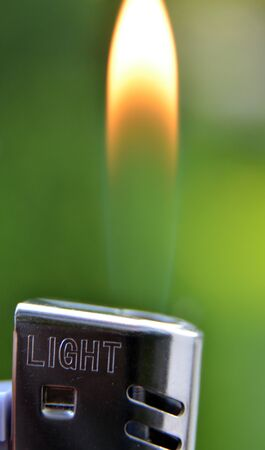 luminance: Picture of a Lighter flame, macro shot Stock Photo