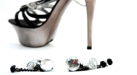 opentoe: Picture of a Fashion Woman high heeel shoes Stock Photo