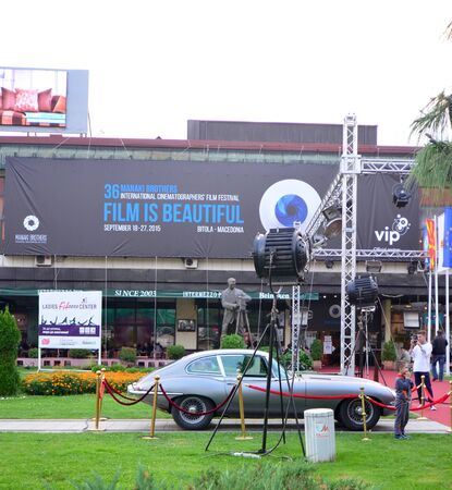 cinematographer: Bitola, Macedonia  - September 23 2015: The International Cinematographers Film Festival MANAKI BROTHERS, is the international film festival dedicated to the creativity of cinematographers. With the motto Film Is Beautiful, the  36th edition of the I Editorial