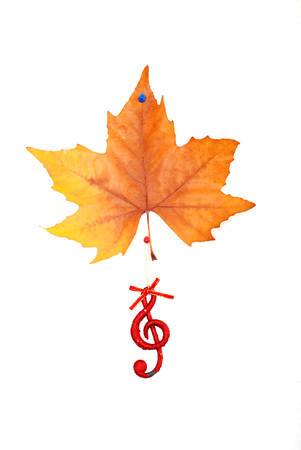 Christmastime muisc,  red musical symbol and maple leaf