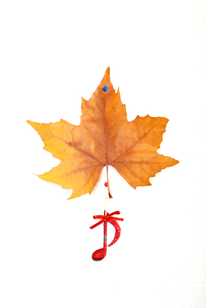christmastime: Christmastime music,  red musical symbol and maple leaf