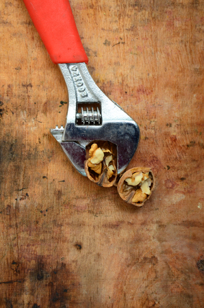 flatnose: picture of a New orange pliers and walnut