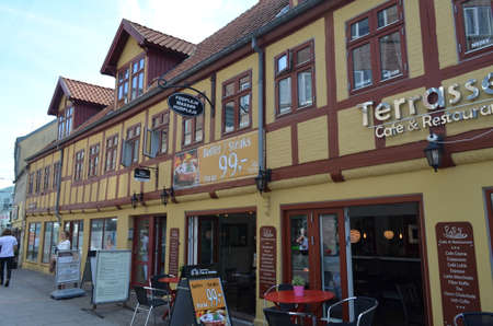 Picture of Aalborg town, Denmark, august, 6, 2015