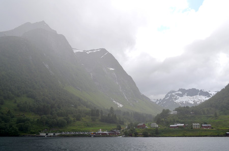 alesund: summer in alesund area, norway. july 2015