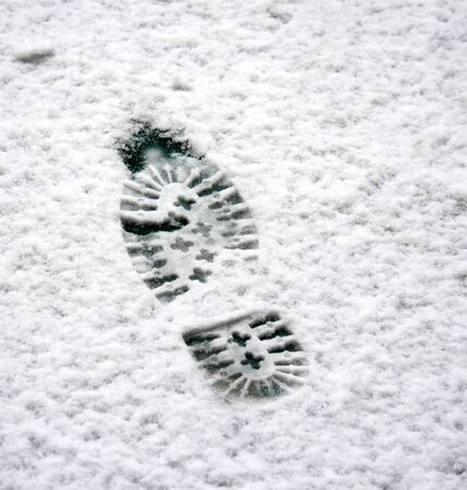 shoeprint: shoeprint  on a snow
