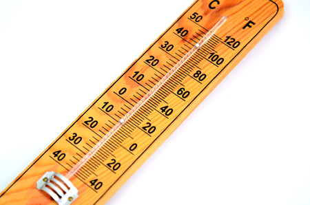 out of order: Picture of a Wooden Out of Order  Thermometer Stock Photo