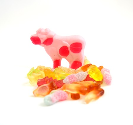 gummi: Picture of a Colorful Gummi Jelly Candies Stock Photo