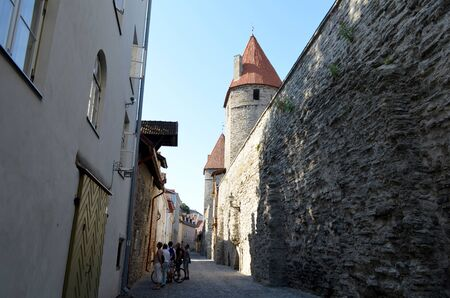 tallin: Picture of a TALLIN , ESTONIA. 24 AUGUST 2015- Tourist view of Old Town architecture in Tallinn, Estonia