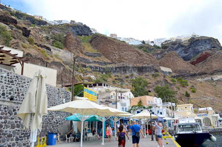 santorini island: Picture of a Famous travel destination Santorini Island ,Greece Editorial