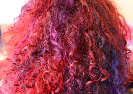 chine: picture of a red hair texture. Fashion theme