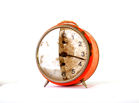 vintage clock: Picture of an Old vintage clock. Time concept Stock Photo