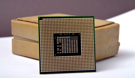 hardware repair: New generation of a CPU central processor unit Stock Photo