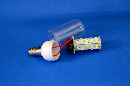 energy picture: picture of a parts of led light bulb,new generation energy saving object Stock Photo