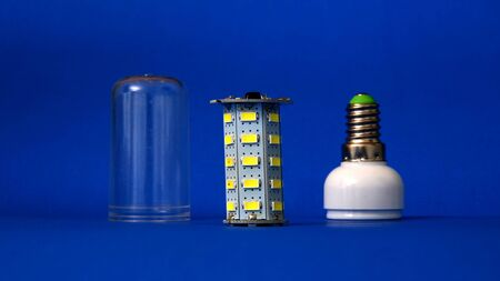 new generation: picture of a parts of led light bulb,new generation energy saving object Stock Photo
