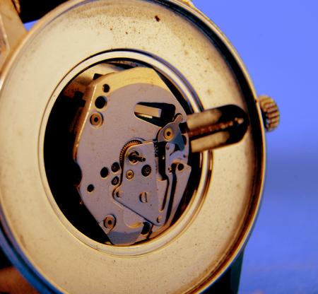 wrist watch: macro picture of a wrist watch clock mechanism