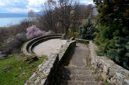 stone stairs: Picture of an Old stone stairs
