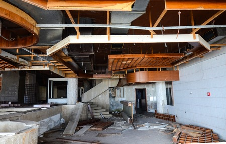 comercial: Picture of a destruction of an abandoned comercial building