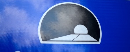 trafic: Picture of a traffic sign of tunnel