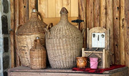 rakia: picture of a Bottles with traditional macedonian drink rakia Stock Photo