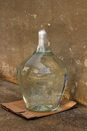 rakia: picture of a Bottles with traditional macedonian drink rakia Stock Photo