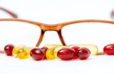 Cod liver oil omega 3 gel capsules Reklamní fotografie