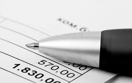 ballpen: closeup of us tax forms Stock Photo