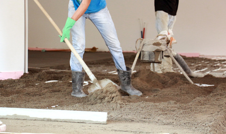 concreting: Picture of a Concreting the floor of a house