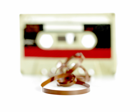 recordable: picture of a audio casette tape, macro picture