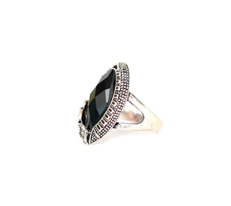 jewell: fashion ring with black gem, picture of a