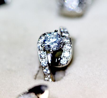 zircon: picture of a Fashion jewellery ring with zircon
