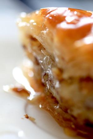 baklava: Handmade baklava, traditional turkish pastry Stock Photo
