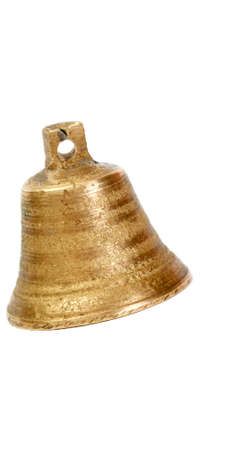peal: Picture of a small bell on a whie background Stock Photo