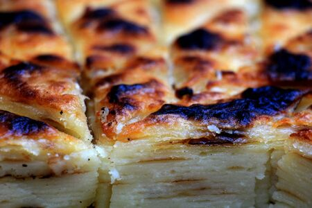 picture of a traditional homemade pastry called gomleze in macedonia