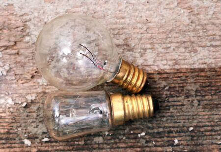 picture of a Old diusty small light bulb Stock Photo