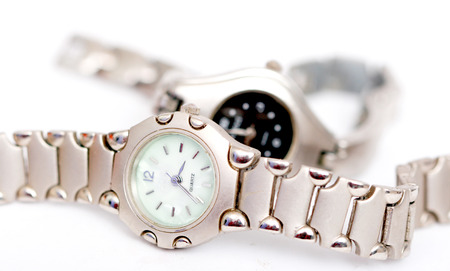burgh: picture of a vintage wrist watch,close up
