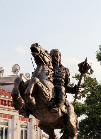 picture of a King s Marko on a horse statue Prilep