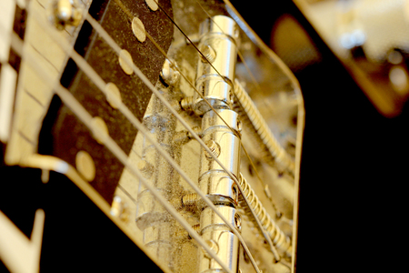 icture of an Electric guitar details, music theme