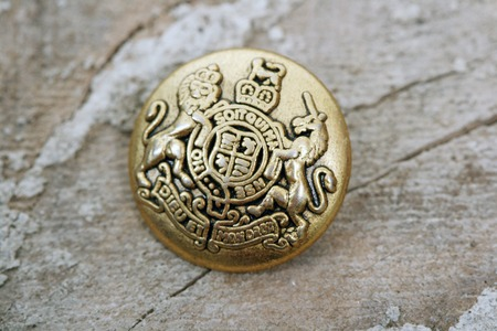 picture of old used sweing button Stock Photo