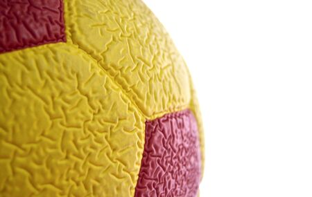 soccerball: picture of a Red and yellow Soccer Ball macro, texture