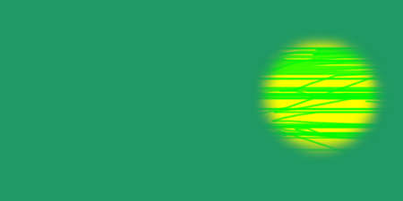 emanate: illustration of a Abstract Of Circle with lines on a green background Stock Photo