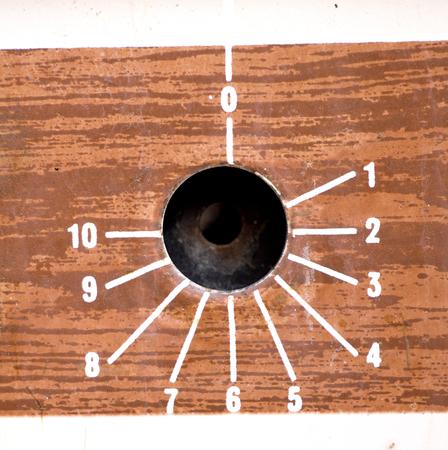 control panel: la imagen de una cosecha perillas Horno, panel de control, macro
