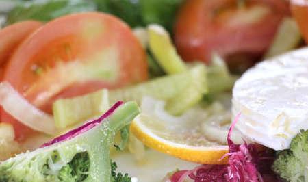 healt: picture of a fresh vegetable salad ,healt and food