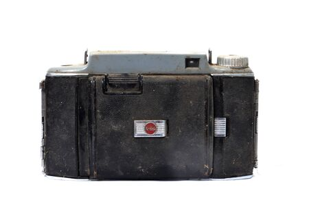 kodak: RESEN , MACEDONIA- JANUARY 5,2014: Kodak tourist camera is American made folding roll film cameras from Eastman Kodak. The Tourist II, introduced in May of 1951.