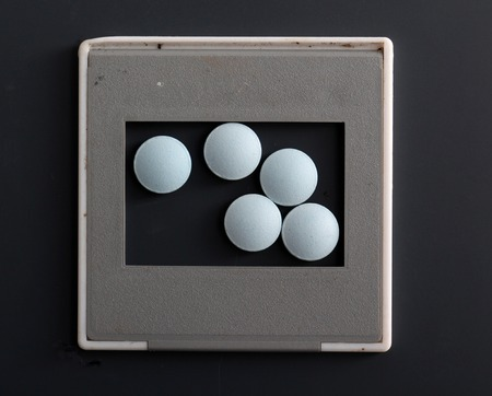 fil: picture of a blue medical pills, health concept