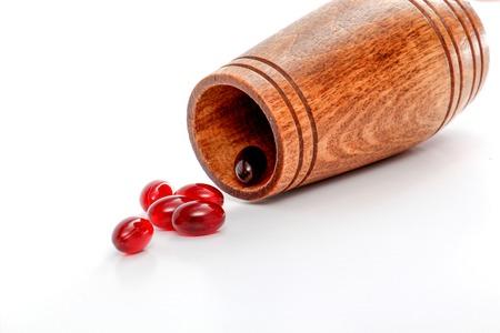 Cod liver oil omega 3 gel capsules Standard-Bild