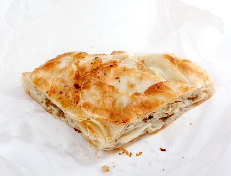 balkan: picture of a Burek with meat , a traditional Balkan food, Stock Photo