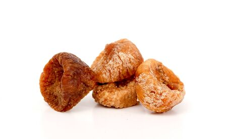 dry fruit: picture of a dried figs isolated on white. dry fruit.