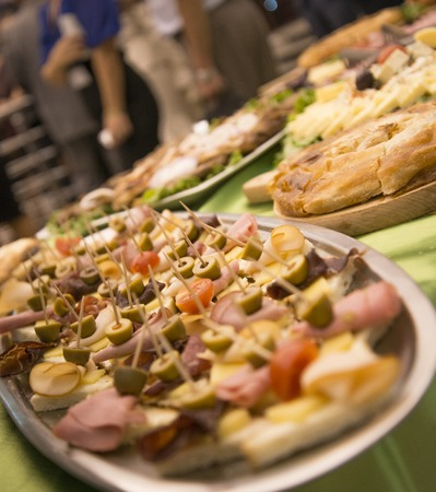 picture of a well decorated catering food for weddings or other events Stock Photo
