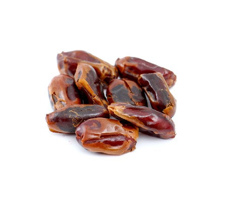 deglet: picture of a Dried dates (fruits of date palm Phoenix dactylifera).