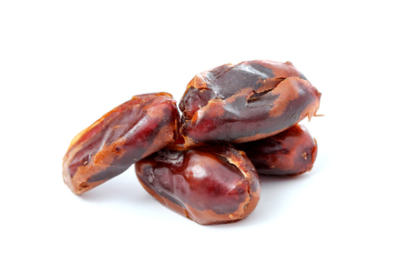 phoenix dactylifera: picture of a Dried dates (fruits of date palm Phoenix dactylifera).